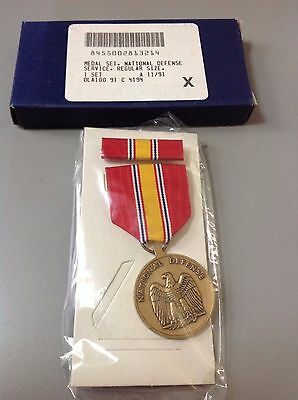 US Armed Forces National DefenseService Medal New Sealed in Plastic NIB Military