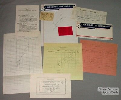 Lot 8 Trois-Rivieres Quebec Baseball Club Official Papers