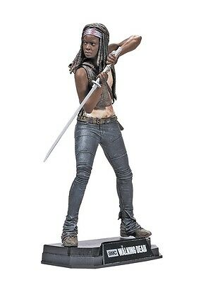"Walking Dead TV Series Colour Tops Red Michonne 7"" Figure McFarlane IN STOCK"