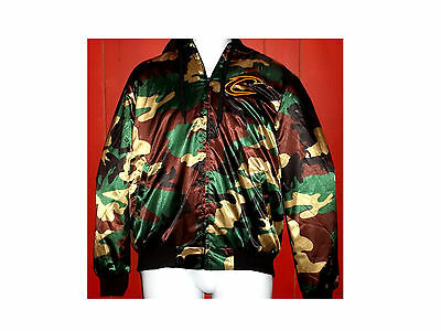 NWT NBA CLEVELAND CAVALIERS Quilt Lined Hooded Camo Coat Sz M ~~~FREE SHIP~~~