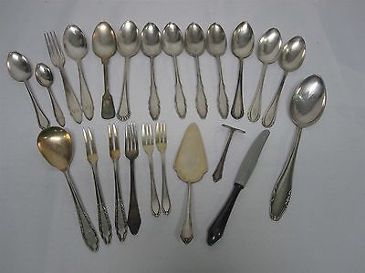 23 Pcs Antique High Quality German Silverplate Flatware ~ Soup Spoons & More