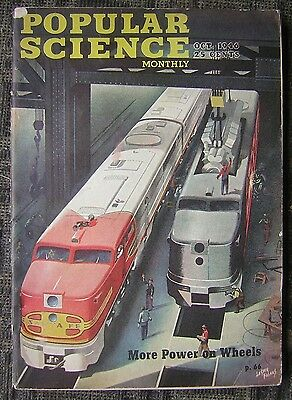 10/1946 Popular Science Monthly - 'More Power On Wheels' - Sante Fe Trains Cover