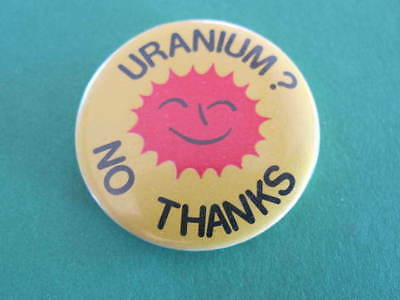 Uranium Anti Nuclear 60s 70s Political Badge