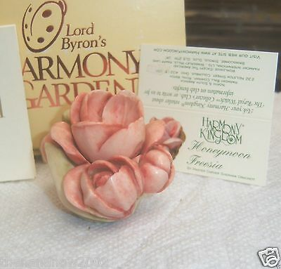 Harmony Kingdom Lord Byron's Harmony Garden HONEYMOON FREESIA New Old Stock NIB