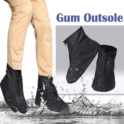 Hot Reusable Rain Snow Shoe Covers Waterproof Boot Protector Overshoes Anti-slip