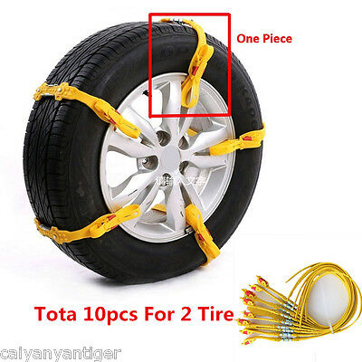 New Reusable Tire Chain Car/SUV/Truck Snow Tire Antiskid Chain safety kit/10pcs