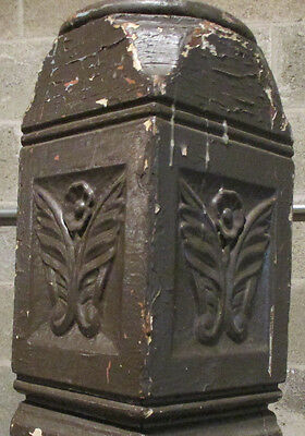 ~ Antique Carved Walnut Newel Post 47.25 Tall ~ Architectural Salvage ~