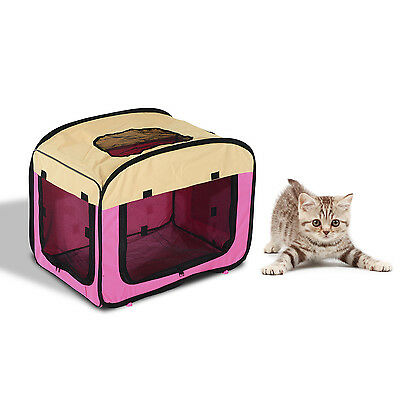 Portable Pet Carrier Dog Puppy Car Soft Crate Bag House Travel Safety Folding