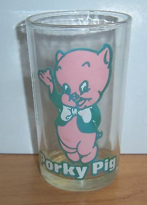 Vintage 1976 Warner Bros. Porky Pig Welch's Jelly Jar Glass With Bugs Bunny