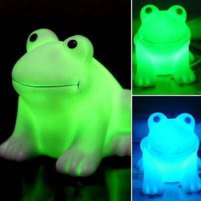 Magic LED Cute Frog Night Light Novelty Lamp Changing Colors Colorful MO