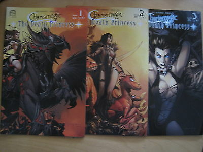 CHARISMAGIC Vol 1 : The DEATH PRINCESS : COMPLETE 3 ISSUE SERIES. ASPEN. 2012