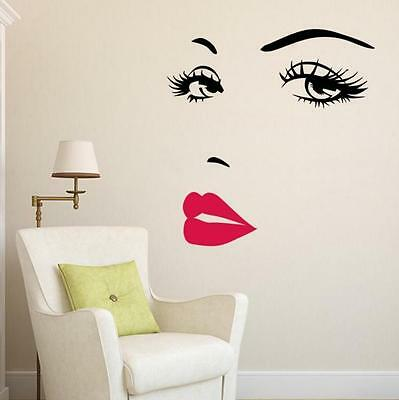 Wall Decal Wall Sticker Deco woman home Beauty Room Bedroom lady Wallpaer