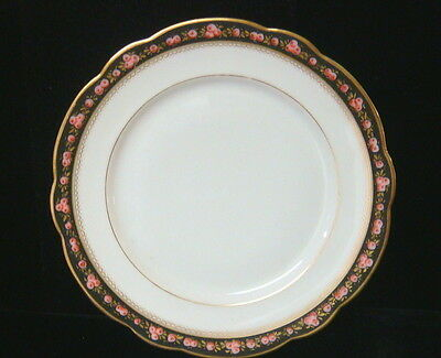 Vintage French Porcelain Hand Painted Roses China - 4 Dinner Plates