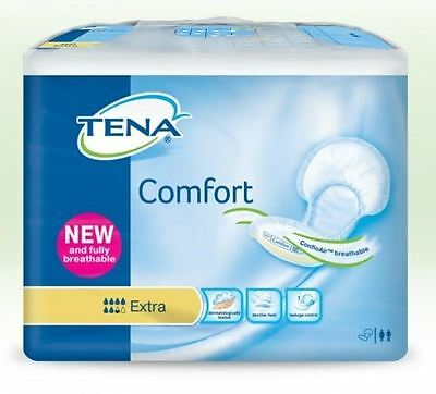 Tena Comfort Incontinence Pads Breathable 6.5/8 Absorbency Pack Of 40 Extra