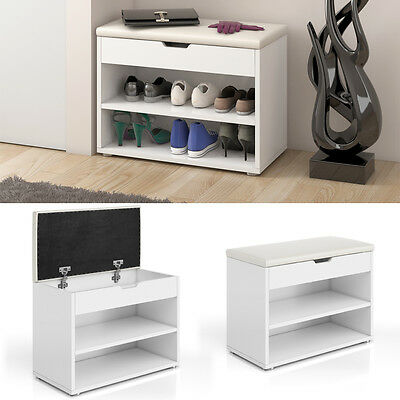 schuhschrank schuhbank schrank bank regal 10 paar schuhe auflage sitzbank weiss eur 59 90. Black Bedroom Furniture Sets. Home Design Ideas