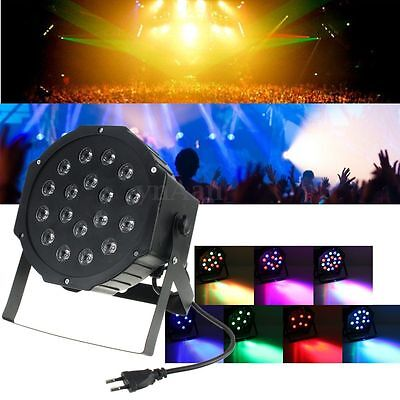 18 RGB LED Stage Lighting Active DMX Club Disco DJ Party Uplights Effect Strobe