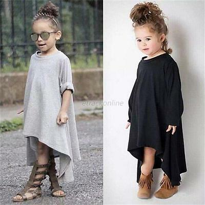Toddler Baby Girls Autumn Clothes Long Sleeve T-Shirt Tops Princess Dress 2-6Y