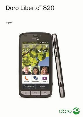 Doro Phone Liberto 820 Printed Instruction Manual User Guide 68 Pages
