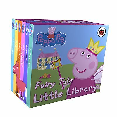PEPPA PIG FAIRY TALE LITTLE LIBRARY Nick Jnr Cbeebies Board Book Stories BN