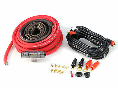 KnuKonceptz RED KCA 8 Gauge TRUE 8 Gauge Amp Kit Installation Wiring Power Kit