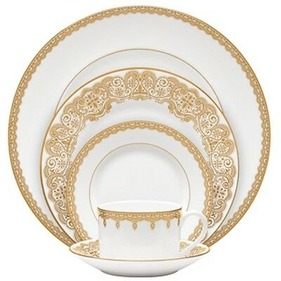 Waterford China Lismore Lace Gold Dinnerware 60Pc Set, Service for 12