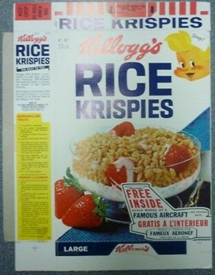 1967 Kellogg's Rice Krispies Free Famous Aircraft Cereal Box