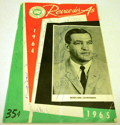 1964-65 Quebec As Program With Many Auto On Cover