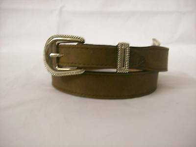 NEW Circle Y Leather Belt-Brown- Waist Size 26