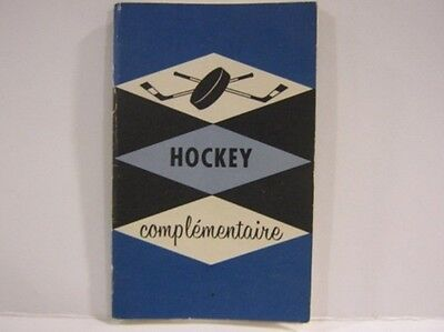 1950's Hockey Complementaire Book by Royal Aviation