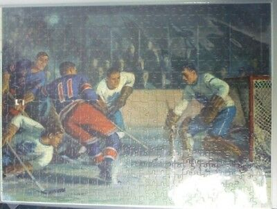 1940's Picture Puzzle Library 600 Pieces Leafs/Rangers