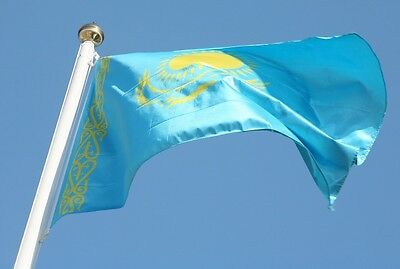 Banner Kazakhstan Country Flag 3x5Ft International outdoor home decor eagle flag