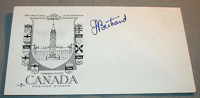 Original Jean-Jacques Bertrand 21st Premier of Quebec Signed First Day Cover