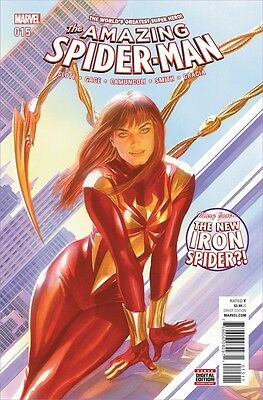 The Amazing Spider-Man #15 T1St Mary Jane As Iron Spider Civil War Ii 1St Print