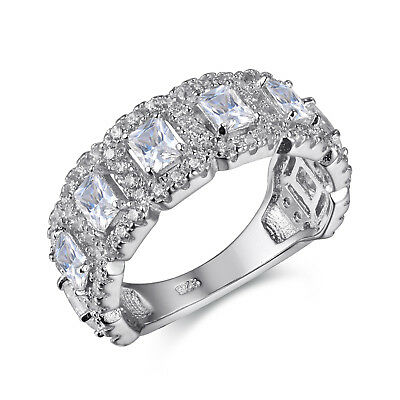 6851cfa2e7bad ANTIQUE IMPERIAL ETERNITY BAND 4.2 Ct CZ Engagement Bridal Wedding ...