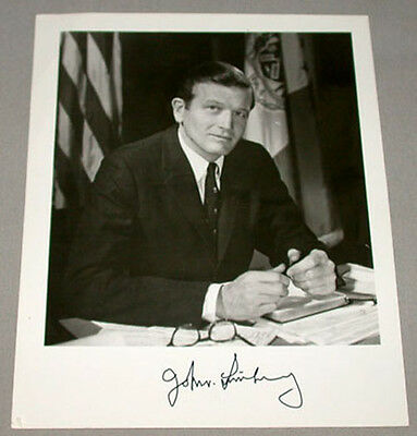 Original John Lindsay Mayor of New York Signed Photo