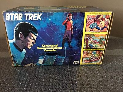1976 Star Trek COMMAND COMMUNICATIONS CONSOLE by Mego EMPTY BOX ONLY