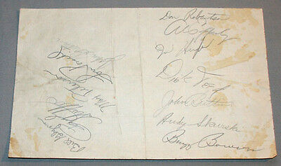Original 1950 Toronto Maple Leafs & Montreal Royals Baseball Clubs Signed Sheet