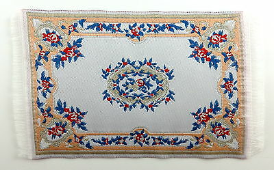 Dolls House Small Turkish Woven Fireside Rug Carpet Miniature 1:12 Accessory MB