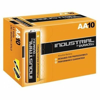 10 X Duracell Industrial Alkaline Aa Batteries Expiry2021 Professional 1.5V