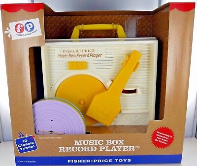 FISHER-PRICE Music Box RECORD PLAYER Preschool FP Toy Includes 5 Records NIB
