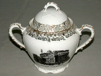 1900's Montreal Quebec Court House Austrian Victoria Carlsbad Two Handles Jar