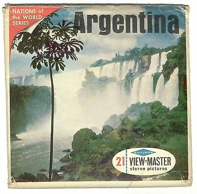 vintage SAWYER'S View Master ARGENTINA reel set SOUTH AMERICA buenos aires old !