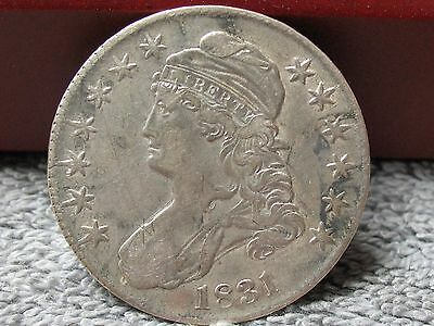 1831 Capped Bust Half -Strong Details-Decent Condition-Free Shipping