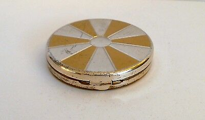 Dorset 5th Avenue Powder Compact Paneled Lid Unused Puff Empty Clean Signed