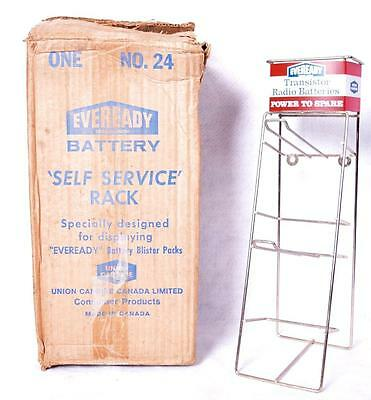 Vintage Eveready Battery Flashlight Store Display Rack Sign w/ Original Box