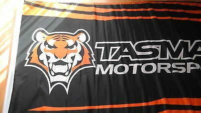 Rare Used Once Large 89cm x 152cm TASMAN MOTORSPORT FLAG  Holden V8 Supercars