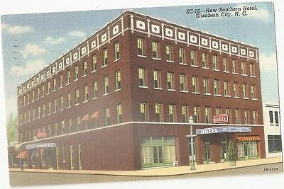 1946 New Southern Hotel Elizabeth City North Carolina Postcard Nc