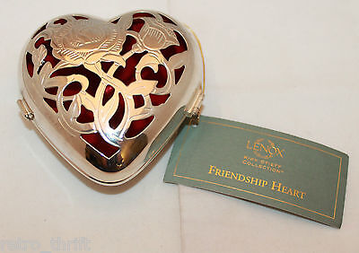 Lenox Kirk Stieff Collection Silver Plated Friendship Heart Hinged Trinket