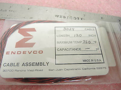 """Endevco Cable Assembly 3024 Cable 120"""" Max Temp 350 Deg F"""