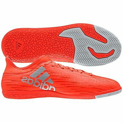 adidas X 16.3 TRX IN Indoor  2016 Soccer Shoes Red / Liquid Silver Kids - Youth
